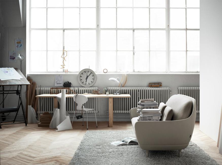 acomodação com design escandinavo