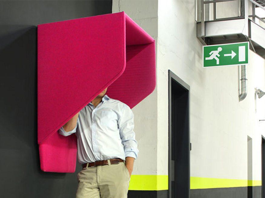 cabines acústicas rosa