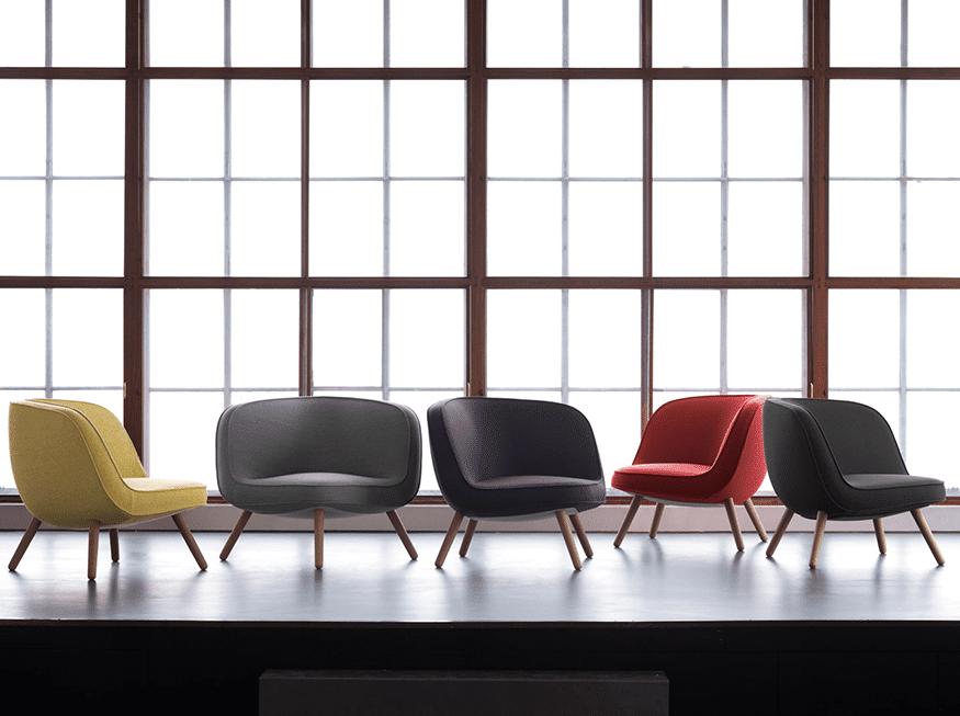 poltronas VIA57™ coloridas design escandinavo