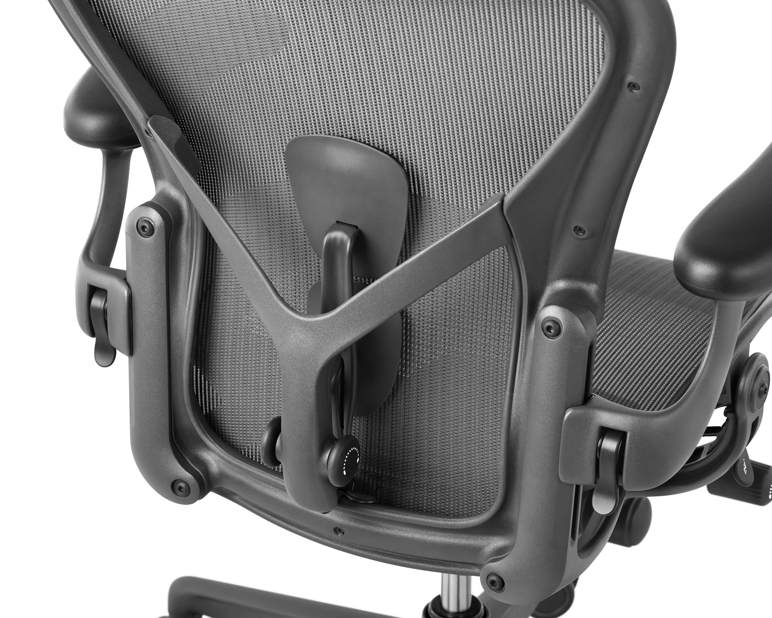 Sistema PostureFit SL na cadeira Aeron