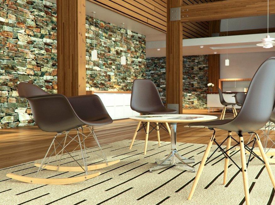 cadeira Eames original na cor marrom
