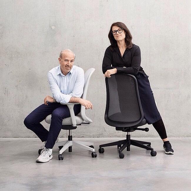 cadeira Lino com seus criadores