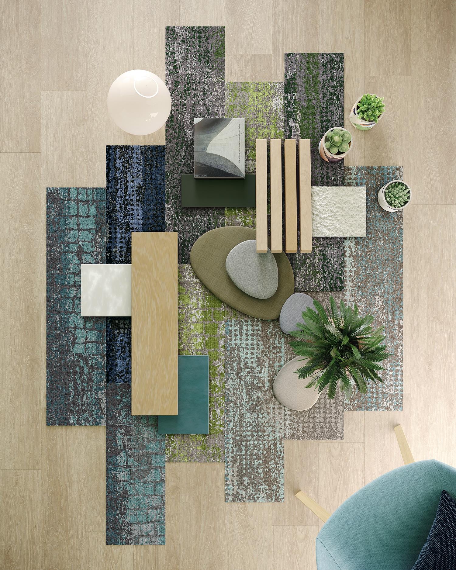 design sustentável com carpete Shaw Contract